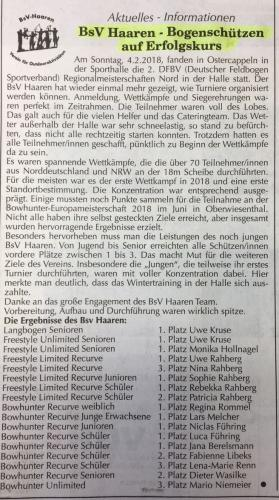 Kastanienblatt, 2. DFBV Regionalmeisterschaft Halle Nord 2018