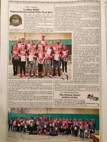 Kastanienblatt 3. offene DFBV Regionalmeisterschaft Halle Nord 2019